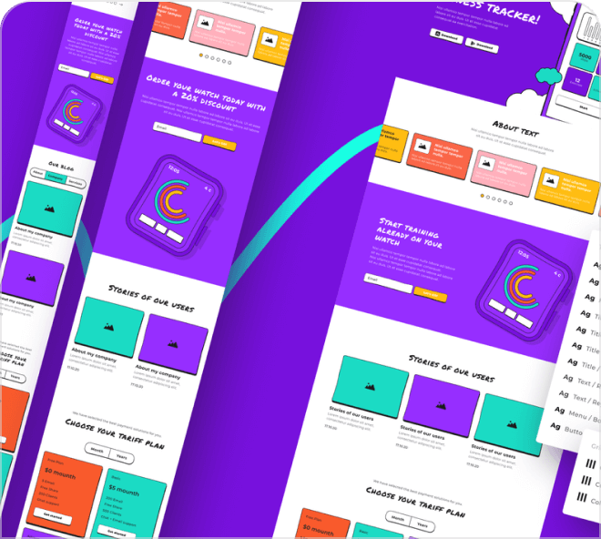 Here's a huge selection of free Figma wireframes that are bright, poppy and super fun.