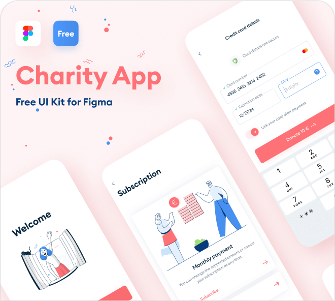 Figma Charity Mobile App Template