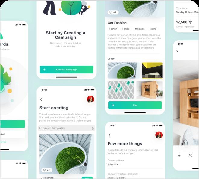 Adboards Minimal Mobile UI Kit