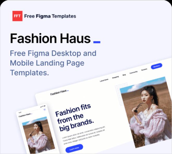Free Figma Fashion Landing Page