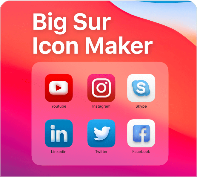 Create beautiful icons filled with depth and vibrancy, emulating the new Apple Big Sur style.