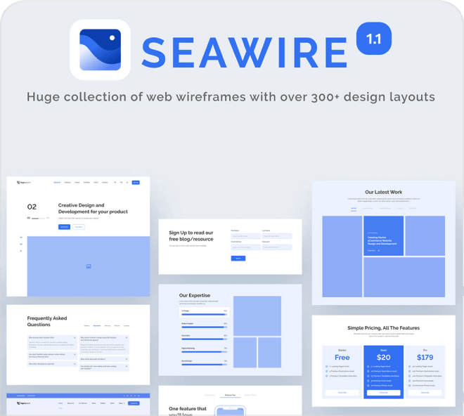 Build out a beautiful and clear wireframe with this free Figma UI kit.
