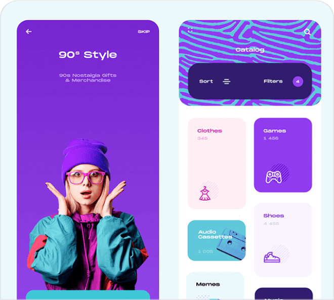 A huge selection of mobile app interface design.