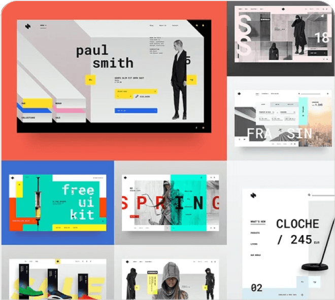 20 high quality, brutalist style free Figma designs for your use.