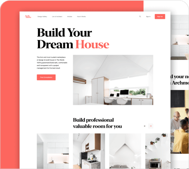 A beautiful landing page focused on Architecture for you to use and tweak.