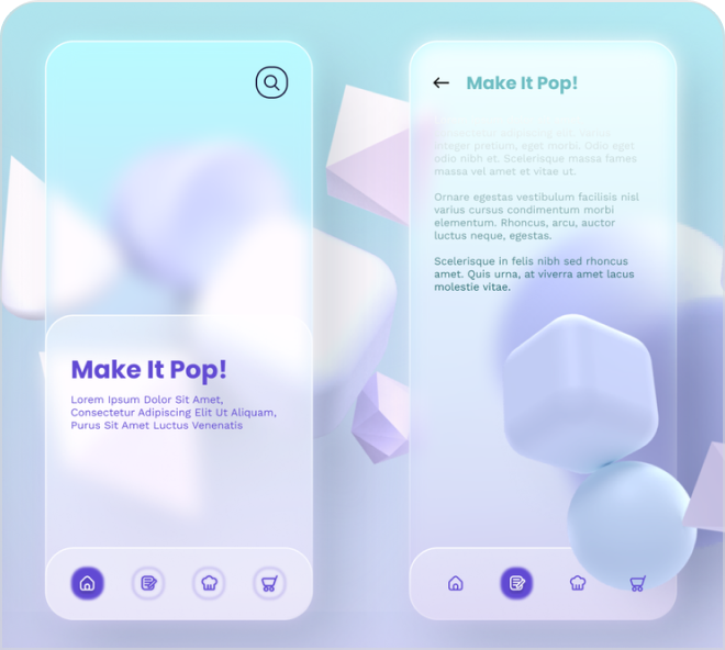 A free and jaw dropping, eye popping Glassmorphism Figma template for you.
