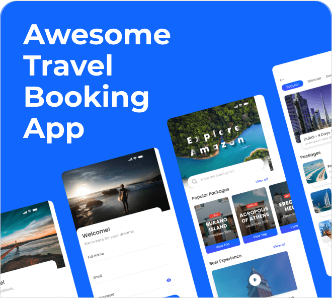 Enjoy this really well thought out travel app UI kit, free for you to play with.