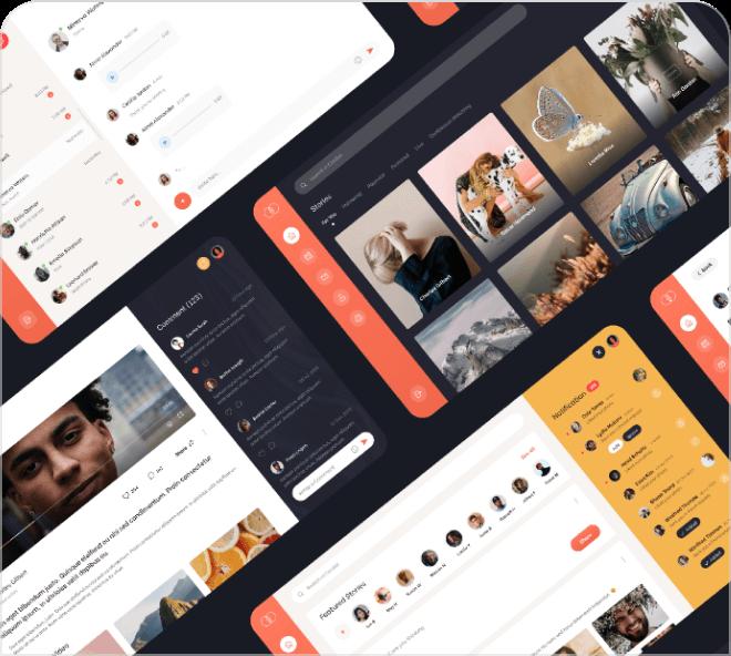 Clubby Social Media UI Kit