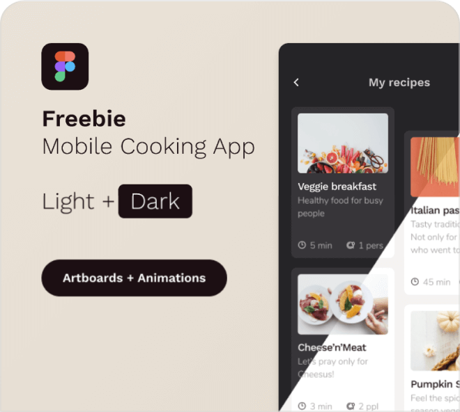 Free Figma Cooking App