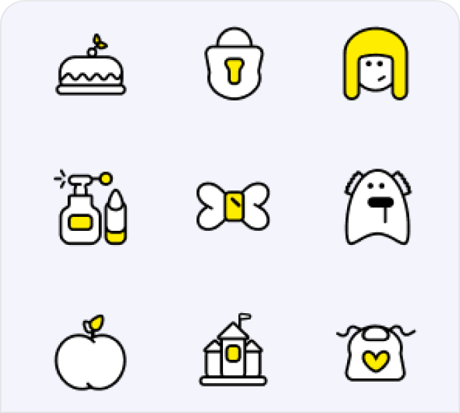 A selection of adorably cute free Figma baby icons.
