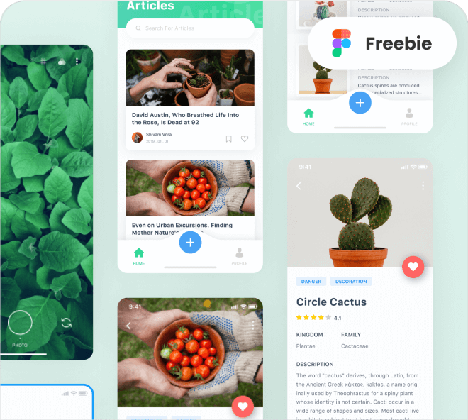 Plants and Flowers App Template