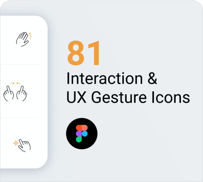Great for guides and help sections of website. Enjoy these free Figma gesture icons.
