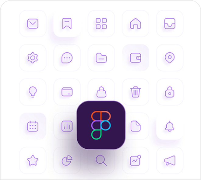 Get instant access to this big range of free Figma icons.