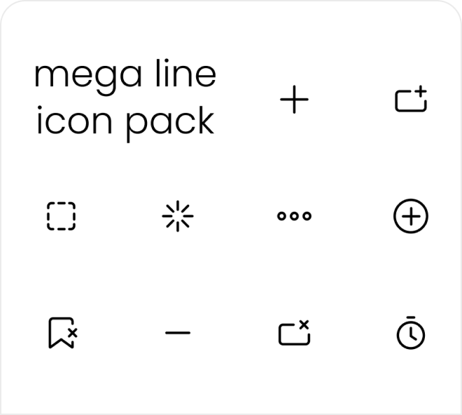 A huge collection of over 320 custom line icons for your use, free on Figma.