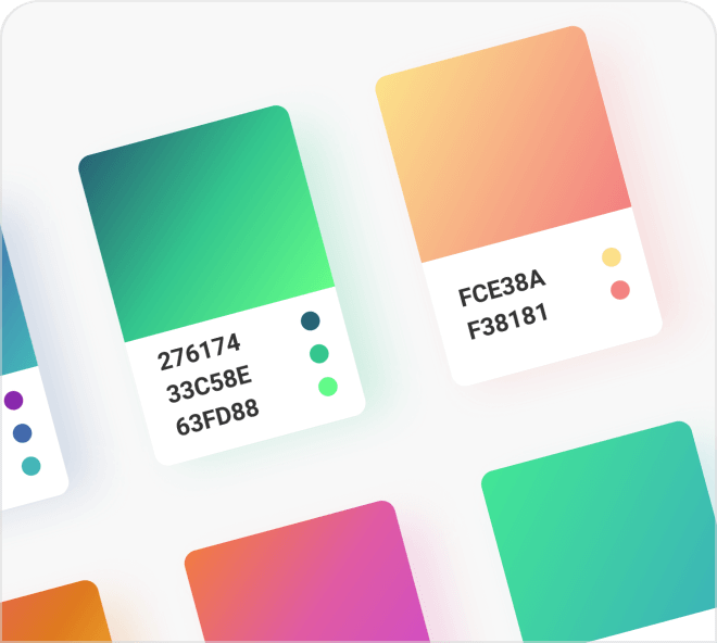 48 inspiring and vibrant gradients to be used in your digital and graphic designs.