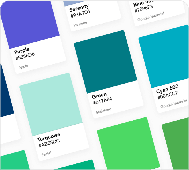 A premium selection of amazing colors by the famous architect Le Corbusier plus so many more.