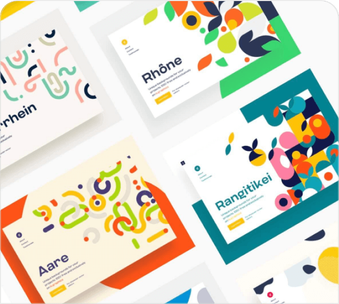 A high quality set of free Figma patterns in a geometric and rounded style. These patterns can be added to any website and will look great as decoration.