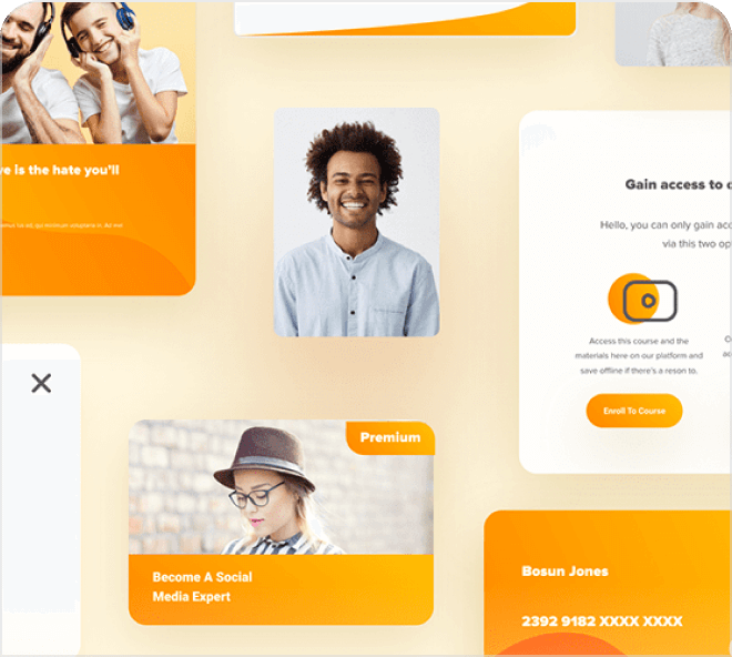 Big, bright, positive and saturated in color, grab this amazing free Figma eLearning UI Kit.