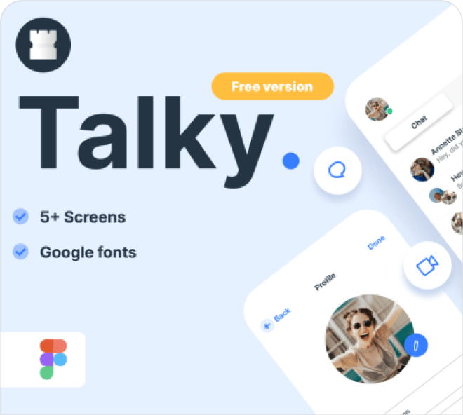 Talky Chat Application UI
