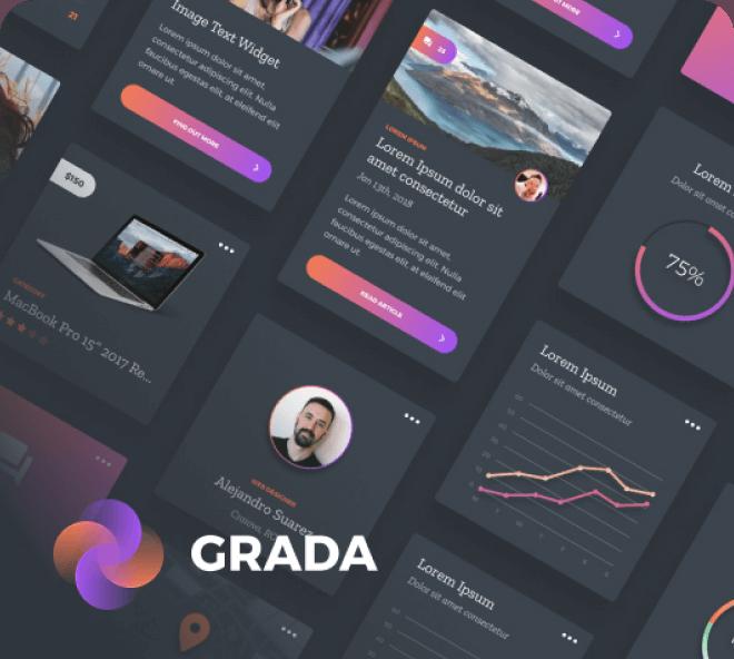 Grada Dark Theme UI