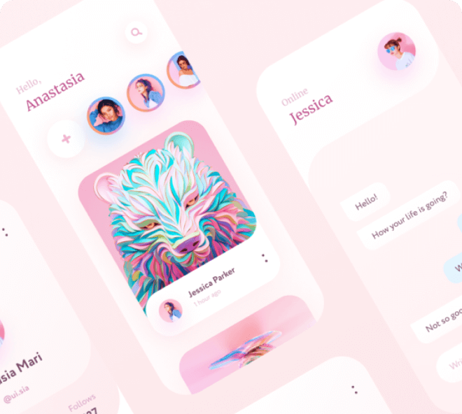 Premium Pink Social App