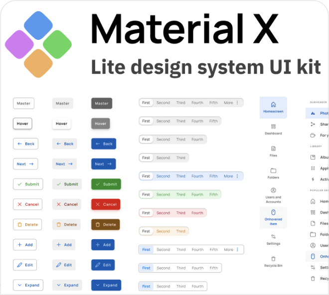 Create robust and clean interfaces using the Material X design system.