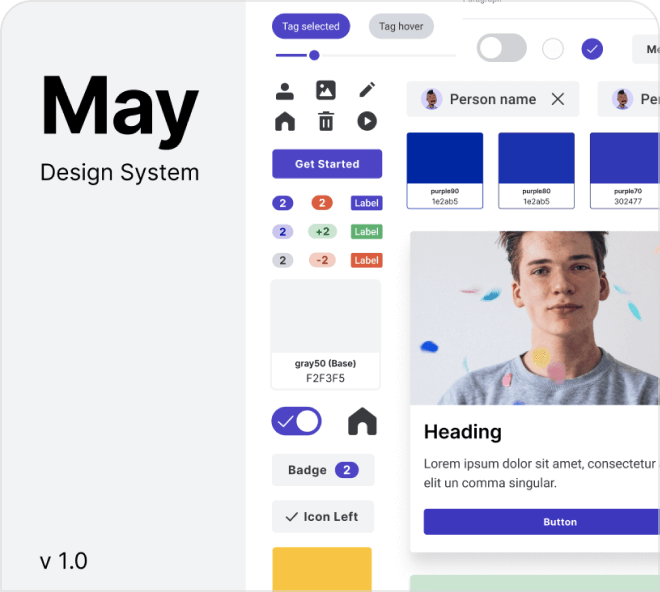 A beautiful but basic Design System to help you build out UI designs.