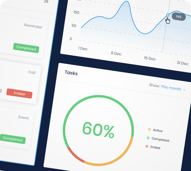 Build out dashboards quickly and easily with this clean and minimalist dashboard UI maker.