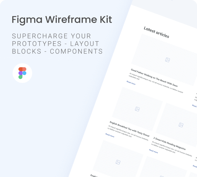 Create wireframes that are clean, classic and simple.