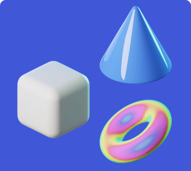 Create artistic and amazing looking websites using these free Figma 3D shapes.