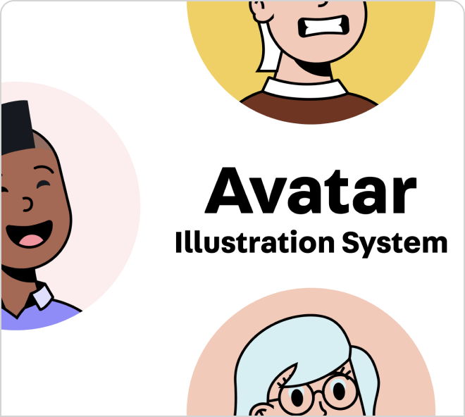 Fun and simple avatar illustrations free on Figma.