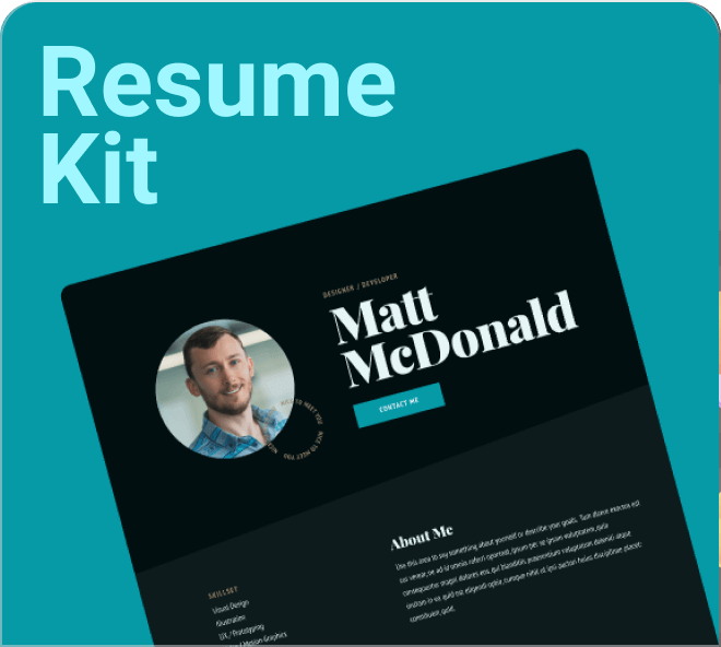 A great set of premium free figma resume templates. Your CV will never look better.