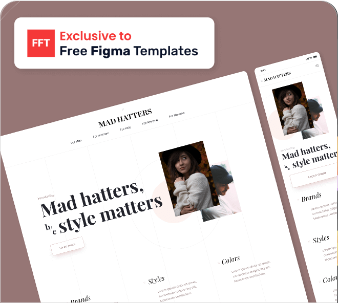 Beautiful, modern, soft and enticing. Grab this free Figma fashion and shopping landing page template.