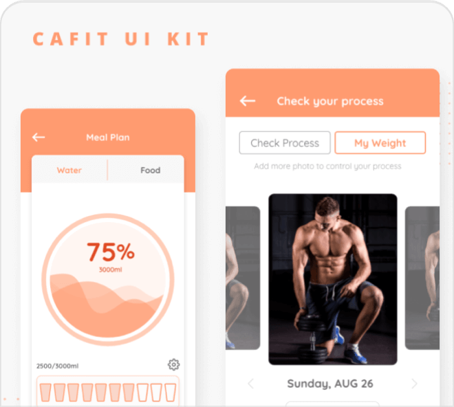 A solid, robust Figma workout app UI kit for your use. Absolutely jam packed with variety.