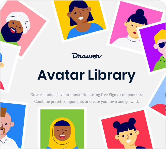 Generate amazing avatars with this adorable Figma based generator.