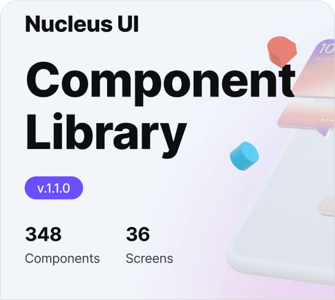 Build out mobile application interfaces in seconds with the Nucleus UI Library.