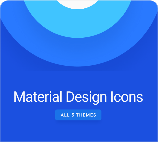 Enjoy this Material Design Icons SVG kit, with these vector icons you always get perfect quality iconograpy.
