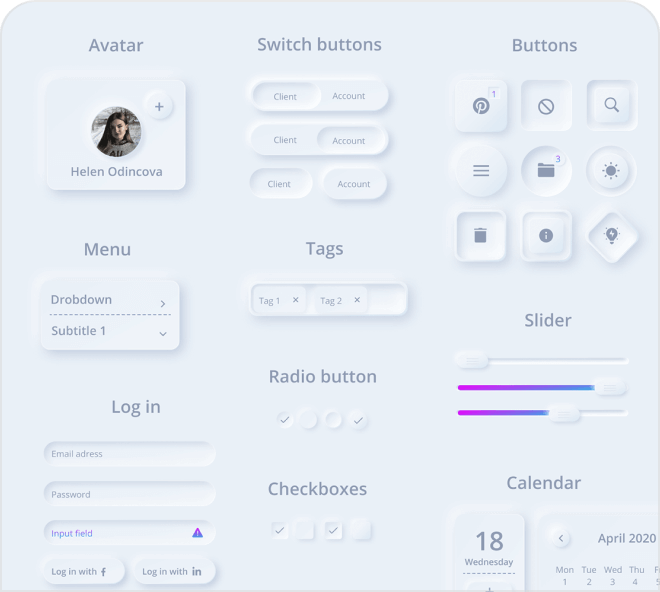 This stunning dashboard kit for Figma is packed with great designs.