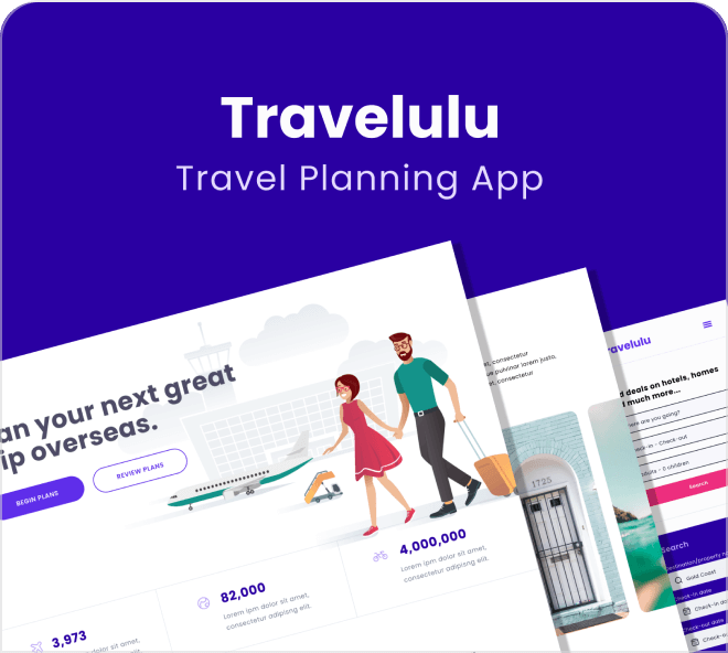 Enjoy this incredibly clean and beautiful travel planning based website design.