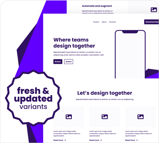 Build modern looking wireframes with this immense and stylish wireframe kit.