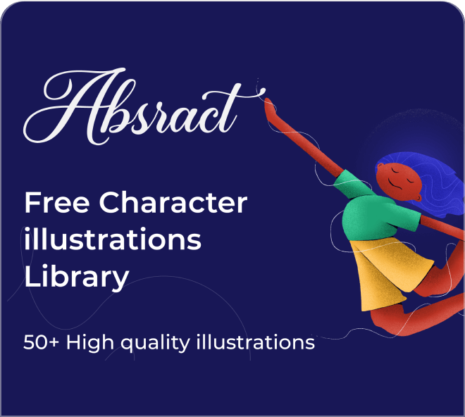 Use this amazing free set of Figma based abstract illustrations.