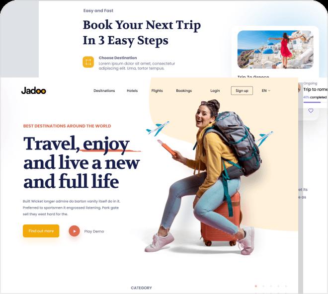 Travel Destination UI