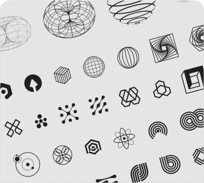 Build interesting, unique and stylish interface designs or art pieces using these amazing abstract shapes.