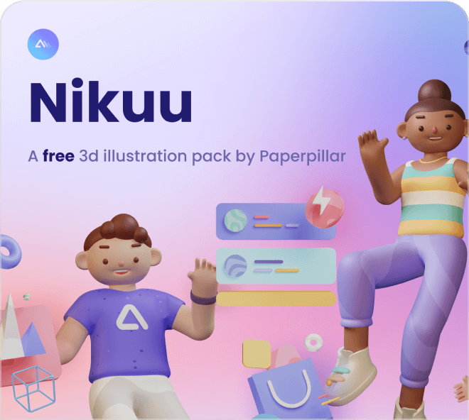 Beautiful and high quality 3D illustrations that would work amazingly well on any website.