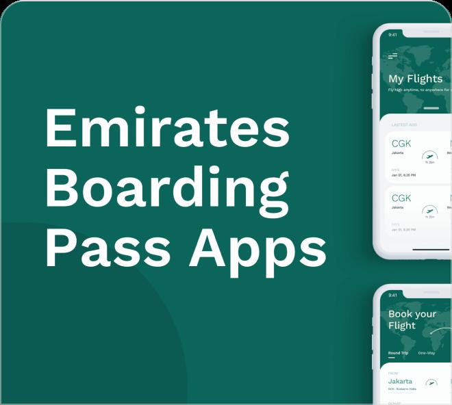 Access a beautiful and intelligent Emirates Boarding Pass App UI Kit