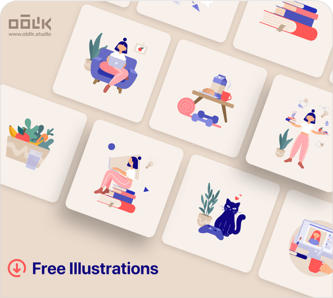 Check out these amazing free Figma remote work illustrations.