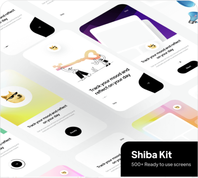 Achieve some awesome inspiration with this set of free Figma onboarding screens.
