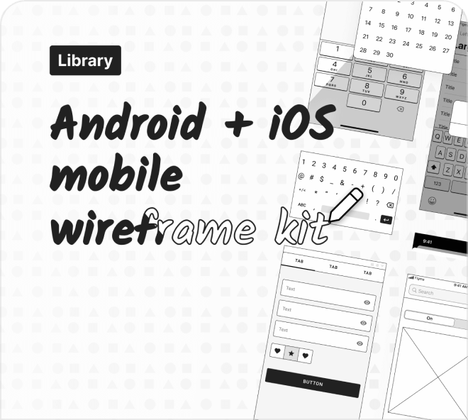 Create mobile concepts quickly and easily with this mobile wireframe UX kit.