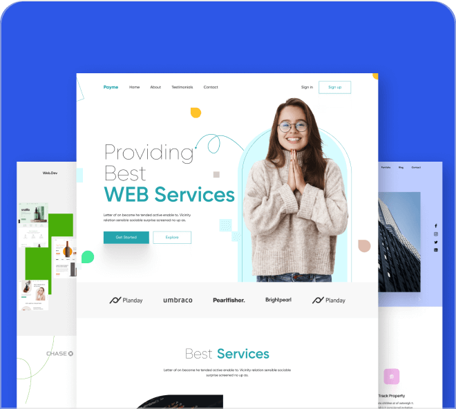 Enjoy these 3 professional and unique landing pages.