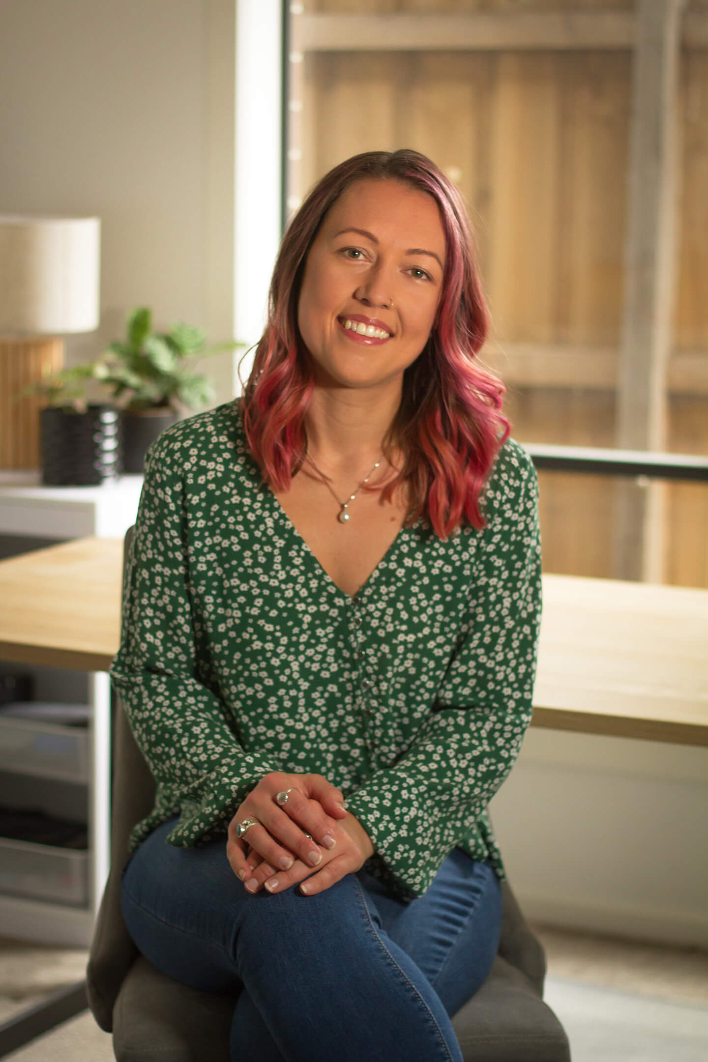 Ashley Rose, Creative Director, at the Laluca Creative office